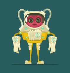 ufo smiling alien character vector image