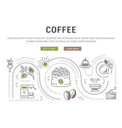 Website Banner and Landing Page Coffee vector image vector image