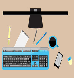 Work space top view vector image