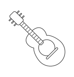 Isolated guitar instrument of music concept vector