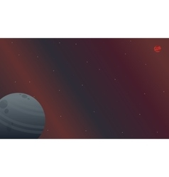 Landscape of outer space night vector