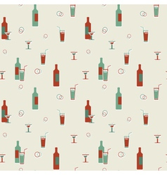 Alcoholic beverages pattern vector