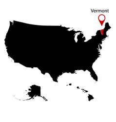 map of the us state of vermont vector image