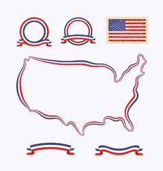 Colors of usa vector