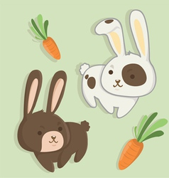 Rabbit twins vector