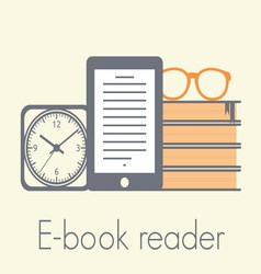 e book reader1 resize vector image