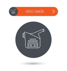Video camera icon retro cinema sign vector