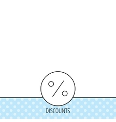Discount percent icon sale sign vector