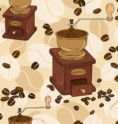 Seamless pattern of coffee grinder vector