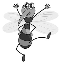 Little mosquito having arms up vector