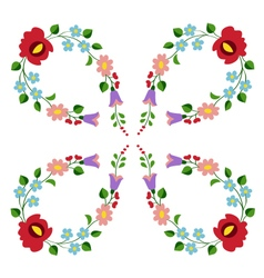 Hungarian folk embroidery pattern vector