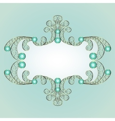 Jewelry pattern frame vector
