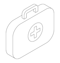 Medical bag icon isometric 3d style vector