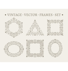 Set of elegant ornate floral design templates vector