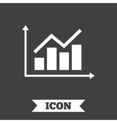 Graph chart sign icon diagram symbol vector