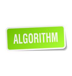 Algorithm square sticker on white vector