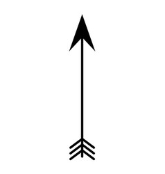 Arrow boho style icon vector