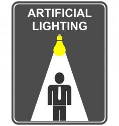 artificial lighting vector image