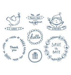 Decorative graphic set vector image vector image