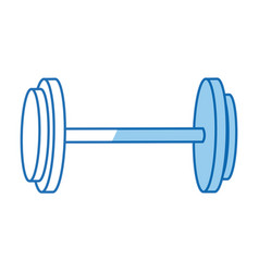 dumbbell weight fitness equipment design graphic vector image