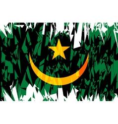 Flag of mauritania vector