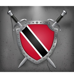 Flag of trinidad and tobago medieval background vector