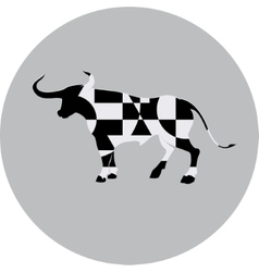 Geometric bull sign vector