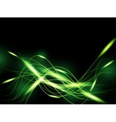 Green neon background vector image