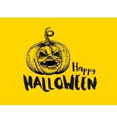 Halloween pumpkin and typography vector
