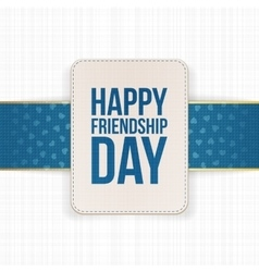 Happy friendship day sale special label vector