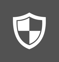 High security shield icon on a dark background vector