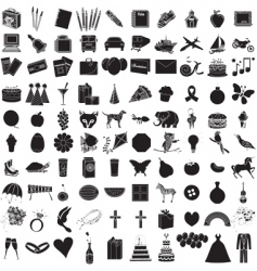icon set 100 vector image vector image