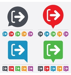 Logout sign icon Log out symbol Arrow vector image vector image