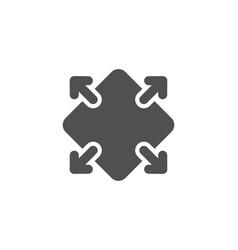 maximize arrow simple icon full screen sign vector image