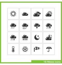 Meteo icon set vector
