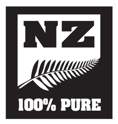 New zealand silver fern vector