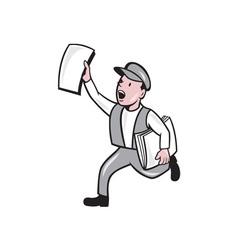Newsboy Selling Newspaper Cartoon vector image