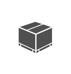 Parcel box simple icon logistics delivery sign vector