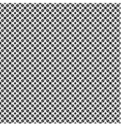 seamless pattern monochrome floral lattice vector image vector image
