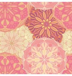 Seamless pattern with mandala symbols ethnic vector