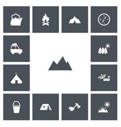 Set of 13 editable trip icons includes symbols vector