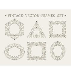 Set of elegant ornate floral design templates vector