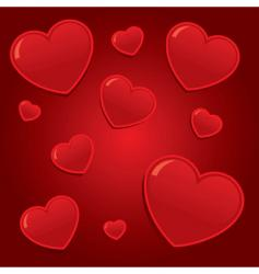 simple valentines hearts background il vector image vector image
