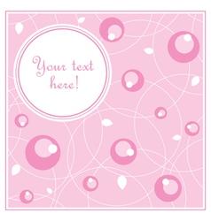 Sweet romantic card vector