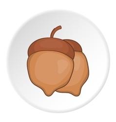 Two acorn icon cartoon style vector image vector image