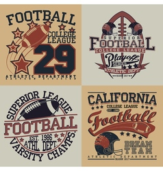 Set of tee shirt print designs vector
