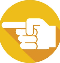 Finger Point Icon vector image