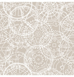 Retro gears pattern vector