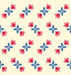 Scandinavian flowers - seamless tulips pattern vector