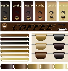 Set website the coffee vector